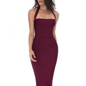 Halter Fitted Bandage Dress