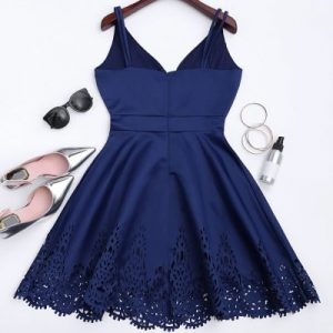 Hollow Out Strappy Flare Dress od Zaful